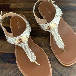 Michael Kors Gold Sandals.